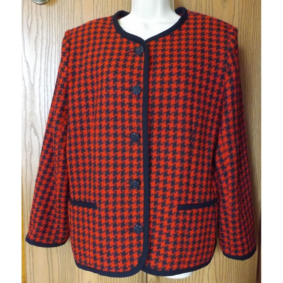 Alfred Dunner Jackets & Blazers - ALFRED DUNNER Size 14 Houndstooth Jacket